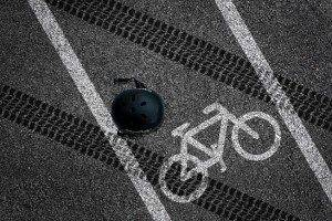 Bicycle accident on bike lane